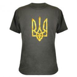 Камуфляжная футболка Золотий герб - FatLine