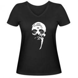 Женская футболка с V-образным вырезом Зомби (Ходячие мертвецы) - FatLine