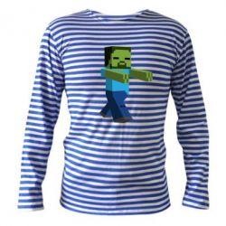 Тельняшка с длинным рукавом Зомби Minecraft - FatLine
