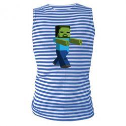 Майка-тельняшка Зомби Minecraft - FatLine