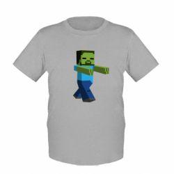 Детская футболка Зомби Minecraft - FatLine