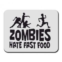 Коврик для мыши Zombies hate fast food - FatLine