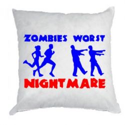 Подушка Zombies the worst night mare