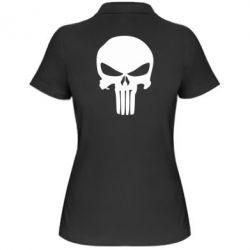 Женская футболка поло Зубастый череп - FatLine