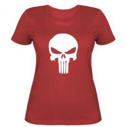 Женская футболка Зубастый череп - FatLine