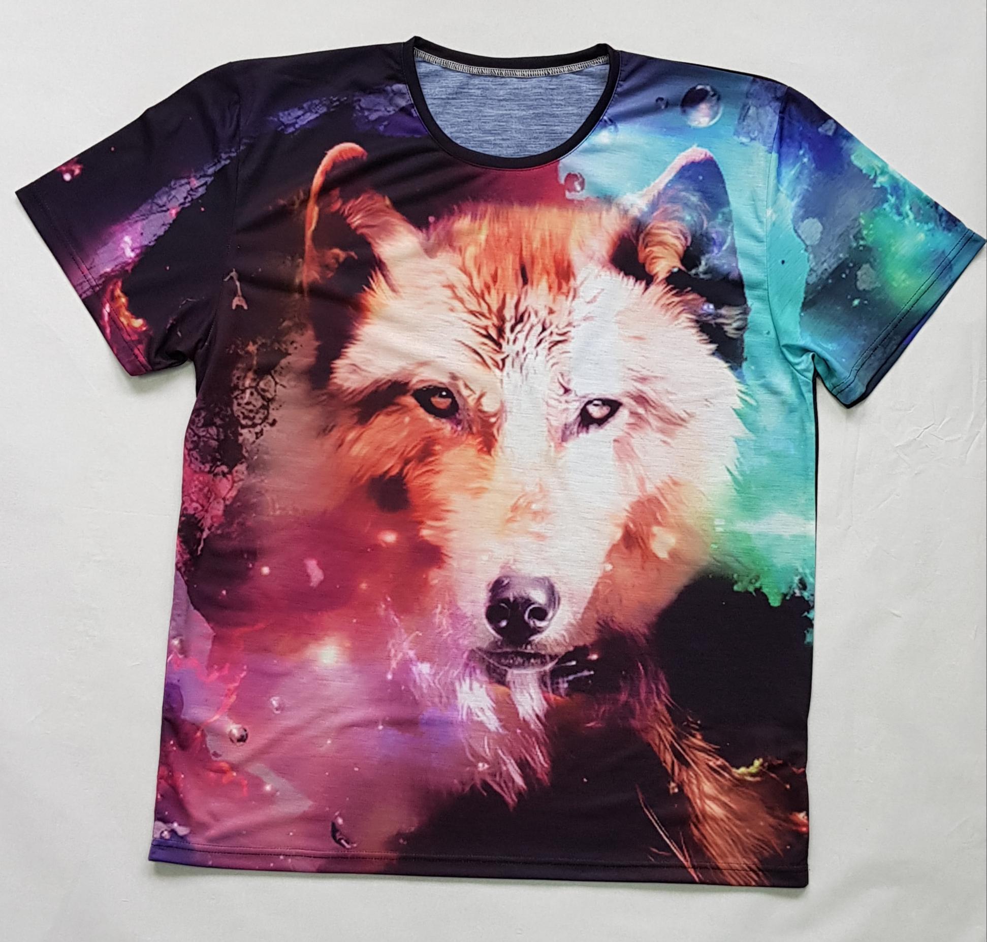 Товары с принтами на тему 3D футболка Волк (фото)