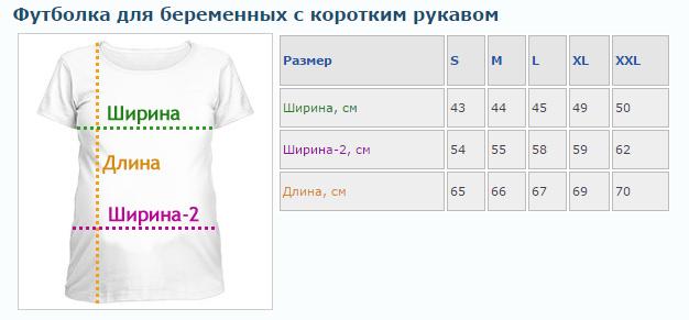 Розміри футболок з коротким рукавом для вагітних (фото) b0f2e9e9f959b