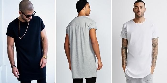 Довга футболка – тренд сучасної моди - FatLine d4ae384423df5