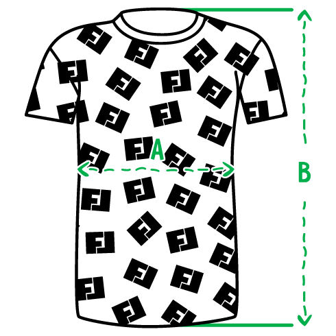 Размеры мужских 3D футболок