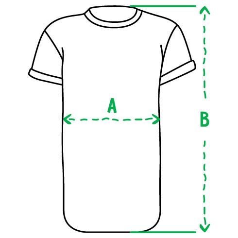 Размеры удлиненных футболок