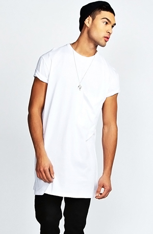 5c259333ddc8c С чем носить мужские длинные футболки? - FatLine
