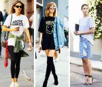 Длинные женские футболки: с чем носить?