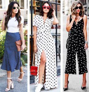 Одежда в горошек: как и с чем носить