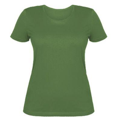 Цвет Оливковый, Женские футболки - FatLine