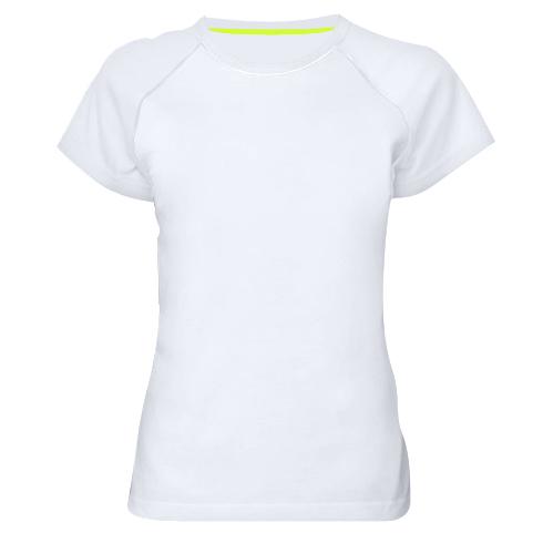 Женская спортивная футболка скелет заяц