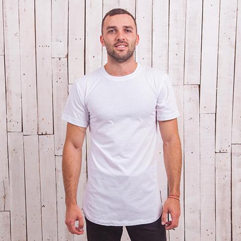 Удлиненная футболка скелет заяц