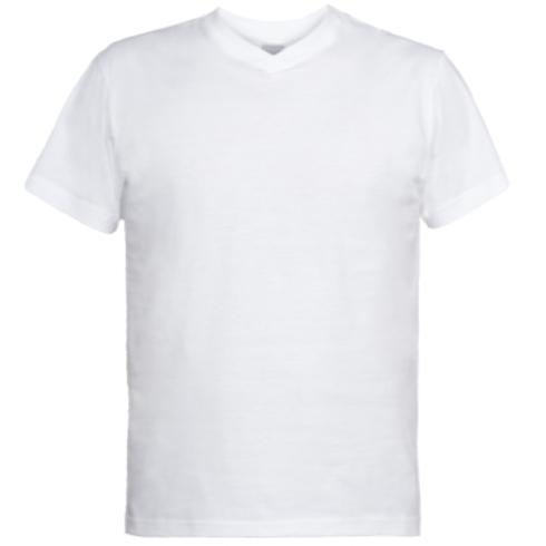 Мужская футболка  с V-образным вырезом Я знатный рыбак