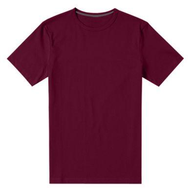 Цвет Бордовый, Мужские стрейчевые футболки - FatLine