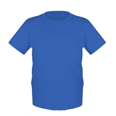 Цвет Синий, Детские футболки - FatLine
