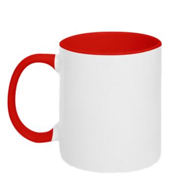 Цвет Красный+белый, Кружки двухцветные 320ml - FatLine