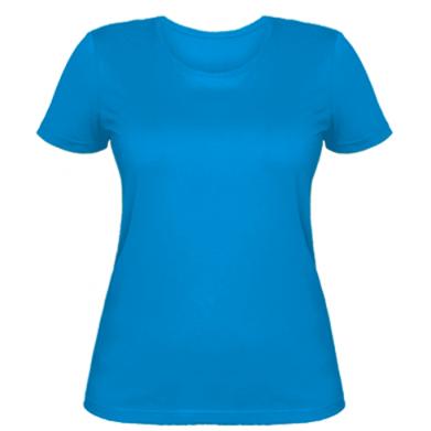 Цвет Голубой, Женские футболки - FatLine