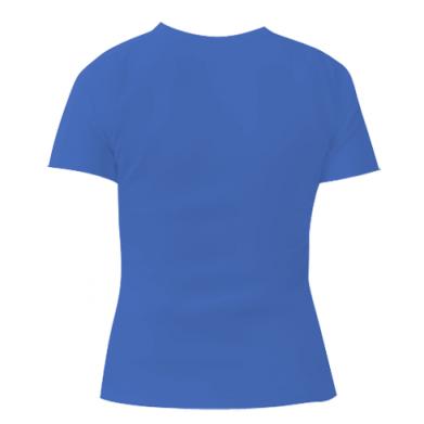 Женская футболка с V-образным вырезом Music makes the world a better place