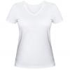 Женская футболка с V-образным вырезом Рождественский олененок