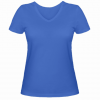 Женская футболка с V-образным вырезом Power Strenght Gym