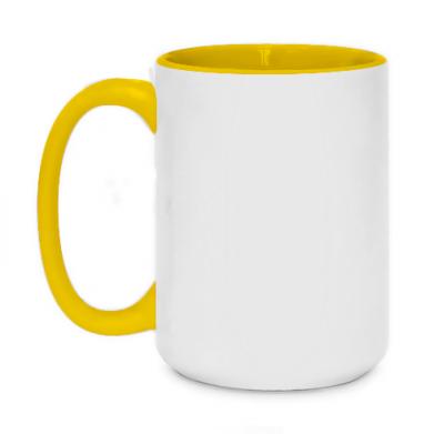Цвет Желтый, Кружки двухцветные 420ml - FatLine