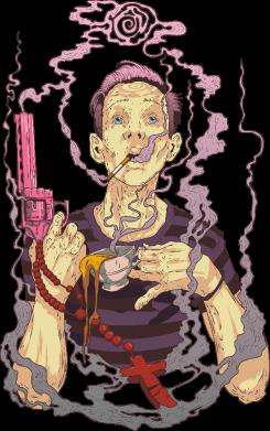 Принт Кружка 320ml Gun, Coffee and Cigarettes, Фото № 1 - FatLine