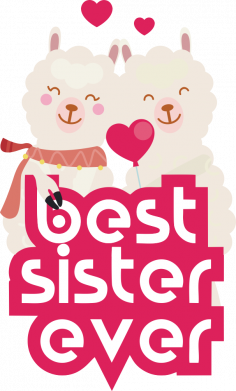 Принт Жіноча футболка Best sister ever, Фото № 1 - FatLine
