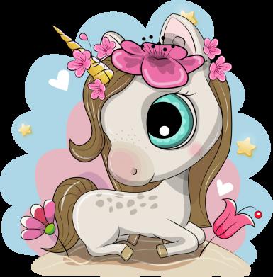 Принт Кружка 320ml Unicorn with flowers, Фото № 1 - FatLine