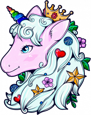 Принт Кружка 320ml Unicorn Princess, Фото № 1 - FatLine