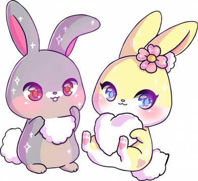 Принт Кружка 320ml Rabbits In Love, Фото № 1 - FatLine