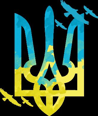 Принт Футболка з довгим рукавом Герб з птахами, Фото № 1 - FatLine