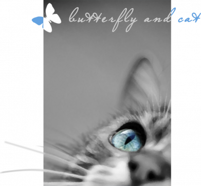 Принт Жіноча футболка Butterfly and cat with blur effect, Фото № 1 - FatLine