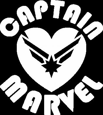 Принт Жіноча футболка I love Captain Marvel, Фото № 1 - FatLine