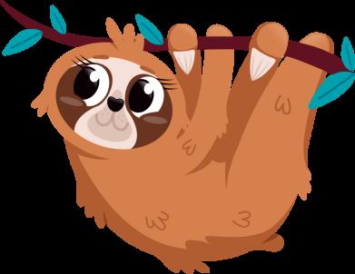 Принт Кружка 320ml Cute sloth, Фото № 1 - FatLine