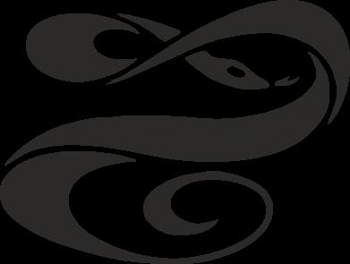 Принт Женская толстовка змеючка - FatLine
