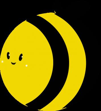 Принт Женская толстовка на молнии толстая пчелка, Фото № 1 - FatLine
