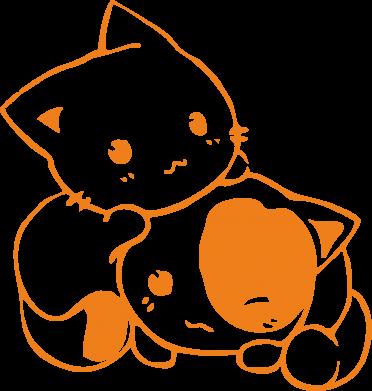 Принт Мужская спортивная футболка котята - FatLine