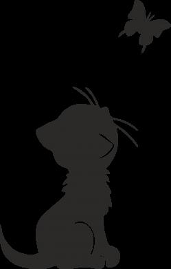 Принт Подушка котик и бабочка, Фото № 1 - FatLine