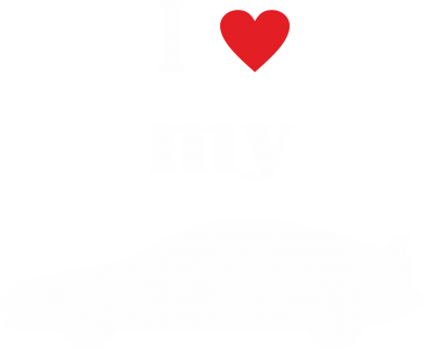 Принт Футболка Поло I love my car - FatLine