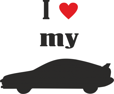 Принт Майка жіноча I love my car - FatLine