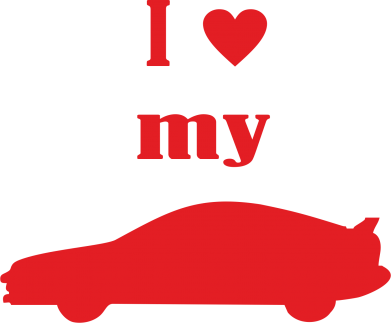 Принт Фартук I love my car - FatLine