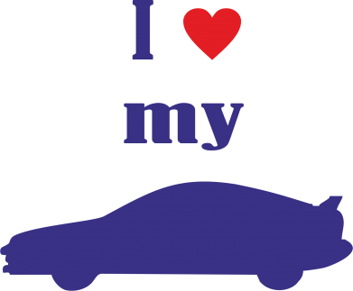 Принт Наклейка I love my car - FatLine