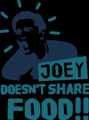 Принт Кружка эмалированная Joey doesn't share food!, Фото № 1 - FatLine