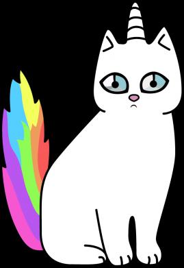 Принт Кепка Cat Unicorn, Фото № 1 - FatLine