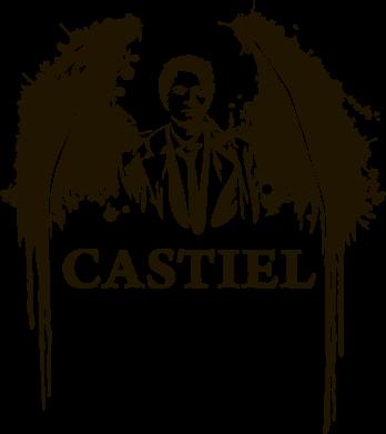 Принт Женская футболка поло Ангел Кастиэль - FatLine