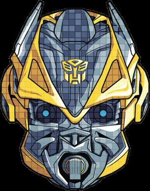 Принт Кепка Робот bumblebee, Фото № 1 - FatLine